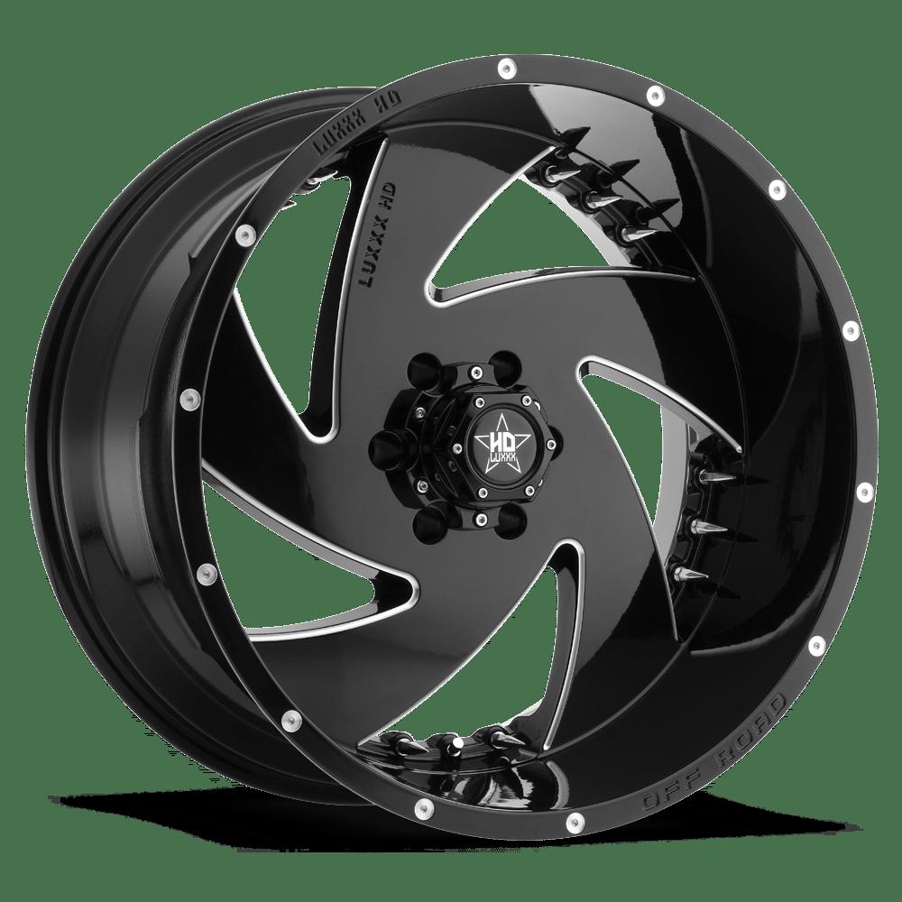 Luxxx Hd 6 22x12 Black Milled Tyres Gator