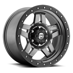 Fuel Anza D558 15X7 Matte Anthracite w/ Black Ring