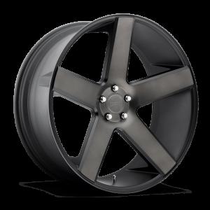 DUB Wheels Baller 24X9 Black Machined Dark Tint