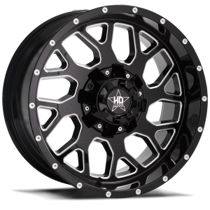 Luxxx Off-Road LHD8 18X9 Gloss Black Milled