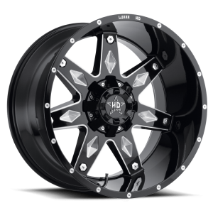 Luxxx Off-Road LHD9 18X9 Gloss Black Milled