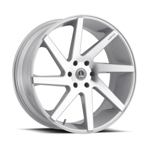 Luxxx Wheels Lux 8 24X10 Silver Machined
