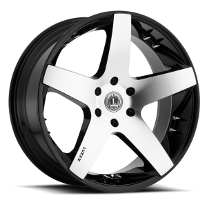 Luxxx Wheels Lux 14 24X9.5 Black Machined with Spikes