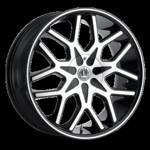 Luxxx Wheels Lux 7 20X8.5 Black Machined