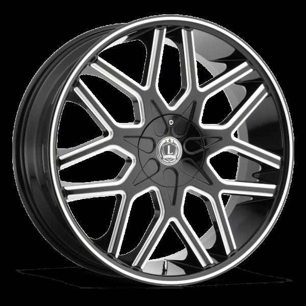 Luxxx Wheels Lux 7 20X8.5 Black Milled