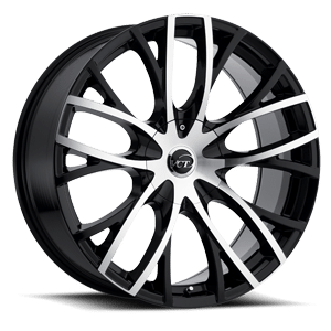 VCT V76 20X8.5 Black Machined