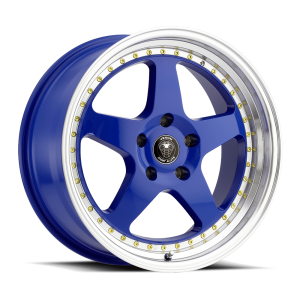 Venom 11 17X8 Blue with Machined Lip