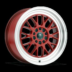 Venom 19 17X7.5 Red with Machined Lip