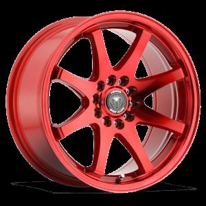 Venom 35 17X8 Neon Red