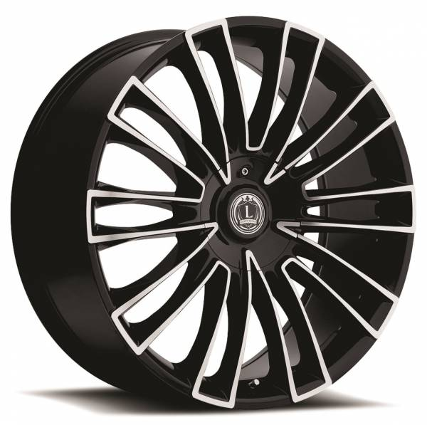 Luxxx Wheels Lux 3 20X8.5 Black Machined
