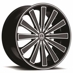 Luxxx Wheels Lux 4 26X9.5 Black Machined