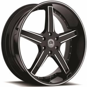 Luxxx Wheels Lux 6 22X8.5 Black Machined