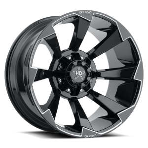 Luxxx Off-Road LHD16 22X12 Gloss Black Milled