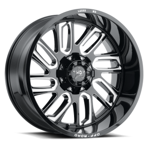Luxxx Off-Road LHD18 24X12 Gloss Black Milled