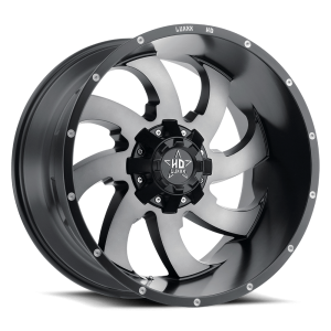 Luxxx Off-Road LHD12 22X12 Satin Black Grey Machined