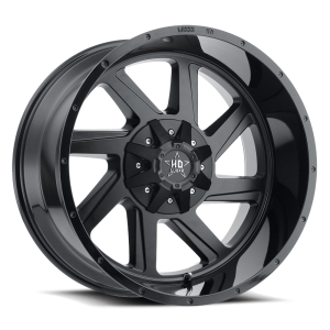 Luxxx Off-Road LHD14 22X12 Gloss Black Lip / Matte Black Face