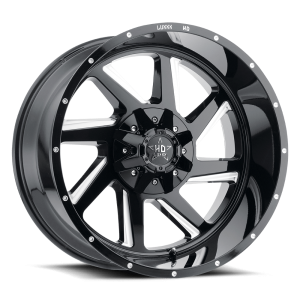 Luxxx Off-Road LHD14 22X12 Gloss Black Milled