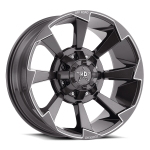 Luxxx Off-Road LHD16 22X12 Lava Grey / Milled Laser Cut