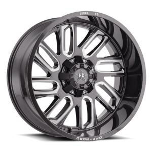 Luxxx Off-Road LHD18 24X12 Lava Grey / Milled Laser Cut
