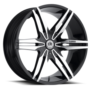 Luxxx Wheels Lux 16 24X9.5 Gloss Black Machined Face