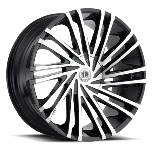 Luxxx Wheels Lux 17 22X8.5 Gloss Black Machined Face