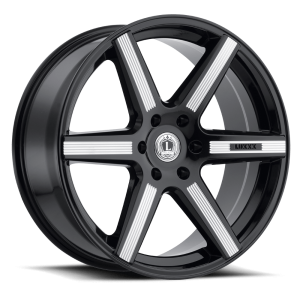 LUXXX WHEELS LUX 20 22X9.5 GLOSS BLACK MILLED