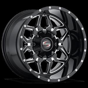 Scorpion SC16 17X9 Black Milled