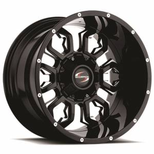 Scorpion SC17 17X9 Black Milled