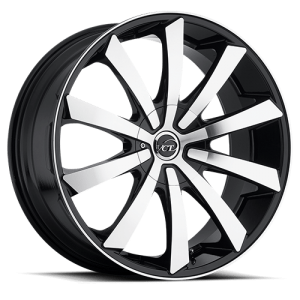 VCT V48 18X7.5 Black Machined