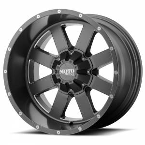 Moto Metal MO962 18X12 Satin Gray w/ Milled Accents