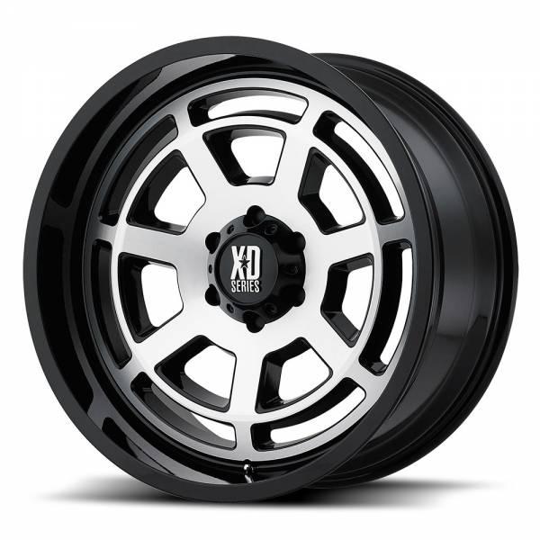 XD Series BONES XD824 20X10 Gloss Black Machined